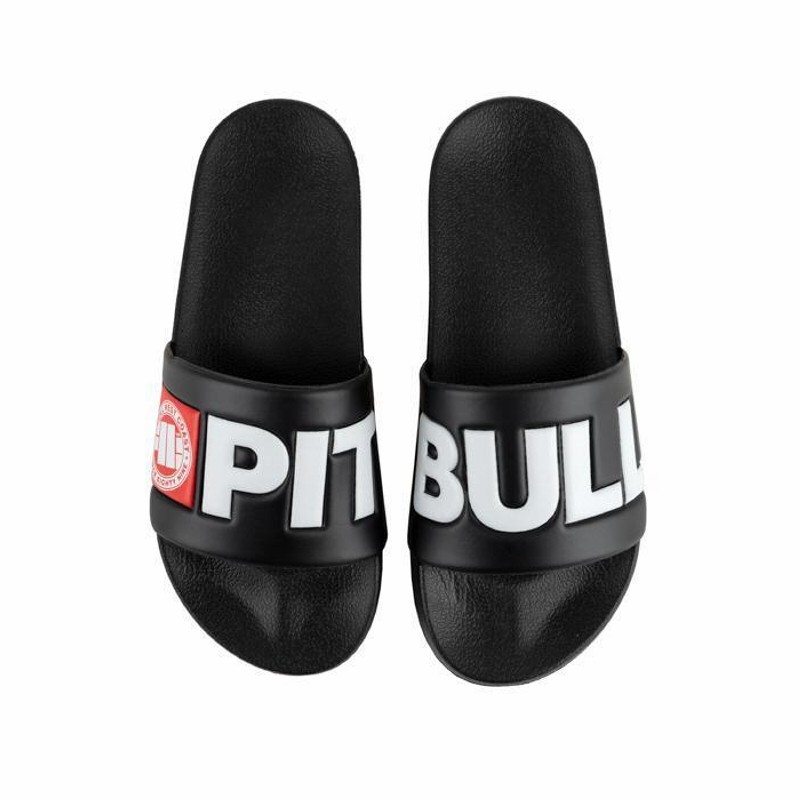 Unisex šľapky PITBULL WEST COAST - LOGO, black
