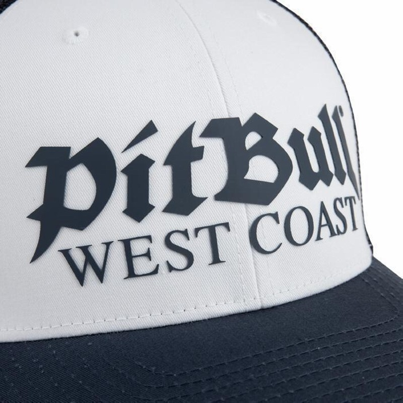 Šiltovka PITBULL WEST COAST - RETRO LOGO, white/navy