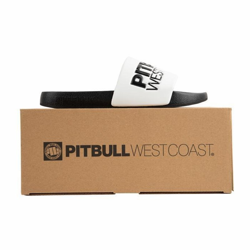 Unisex šľapky PITBULL WEST COAST - PBWC, white/black