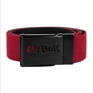 Opasok PITBULL WEST COAST - RETRO LOGO, red